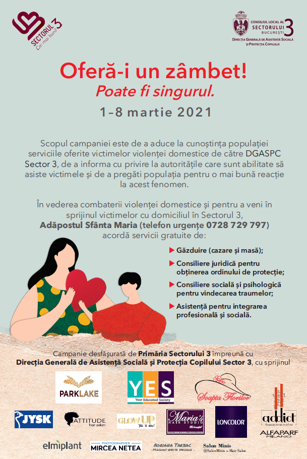 """Campania """"OFERĂ-I UN ZÂMBET! POATE FI SINGURUL"""""""