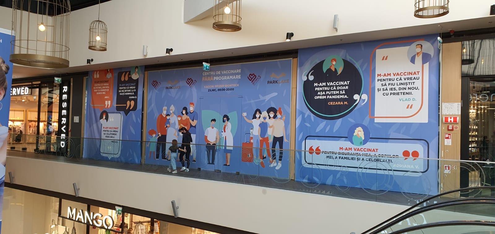 Primăria Sectorului 3 deschide primul centru de vaccinare în mall-ul Park Lake
