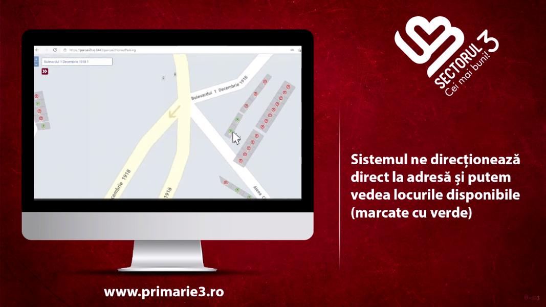 Sistemul de Gestionare a Parcărilor din Sectorul 3 (GIS) nu poate fi accesat din cauza unei avarii tehnice a furnizorului de internet