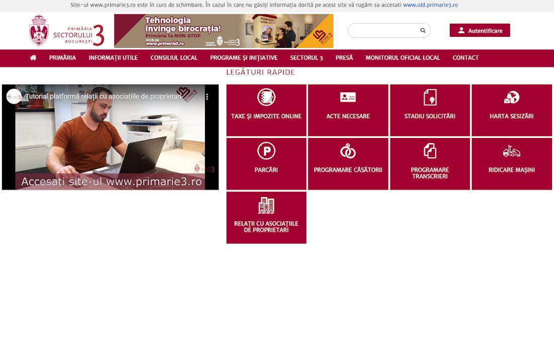 În premieră națională, documentele asociațiilor de proprietari pot fi transmise online la Primăria Sectorului 3